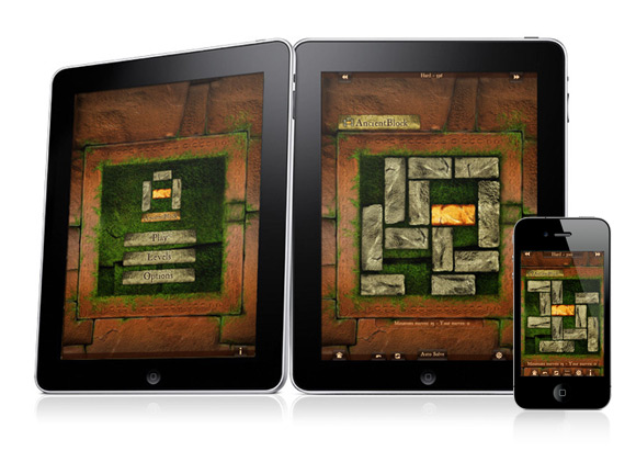 App Ancient Block - User Interface Designed for iPad and iPhone