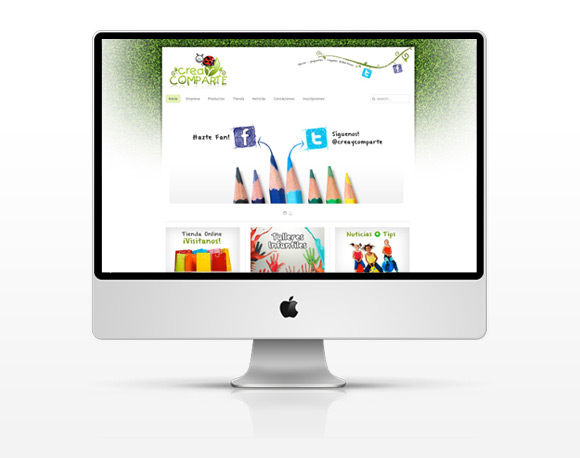 Website Crea y Comparte