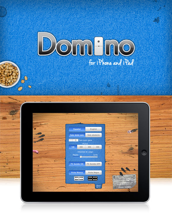 App Domino for iPhone/iPad - Interface Design