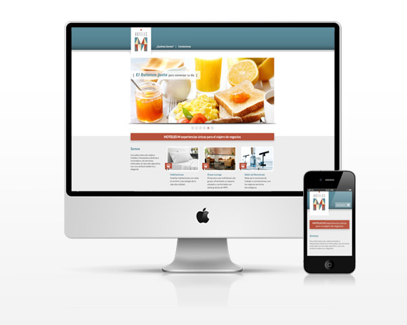 Website Hoteles M - Responsive Design